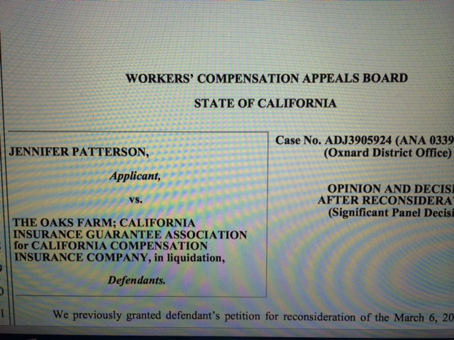 Patterson – Workers Comp Zone